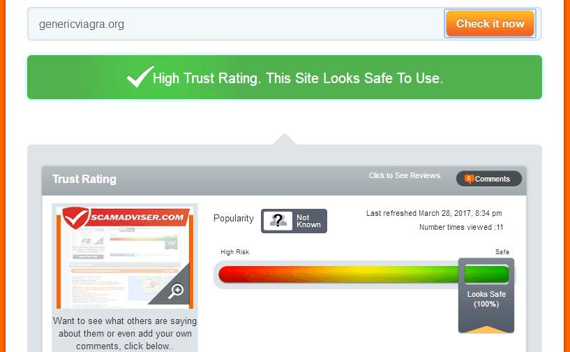 Genericviagra.org Trust Rating