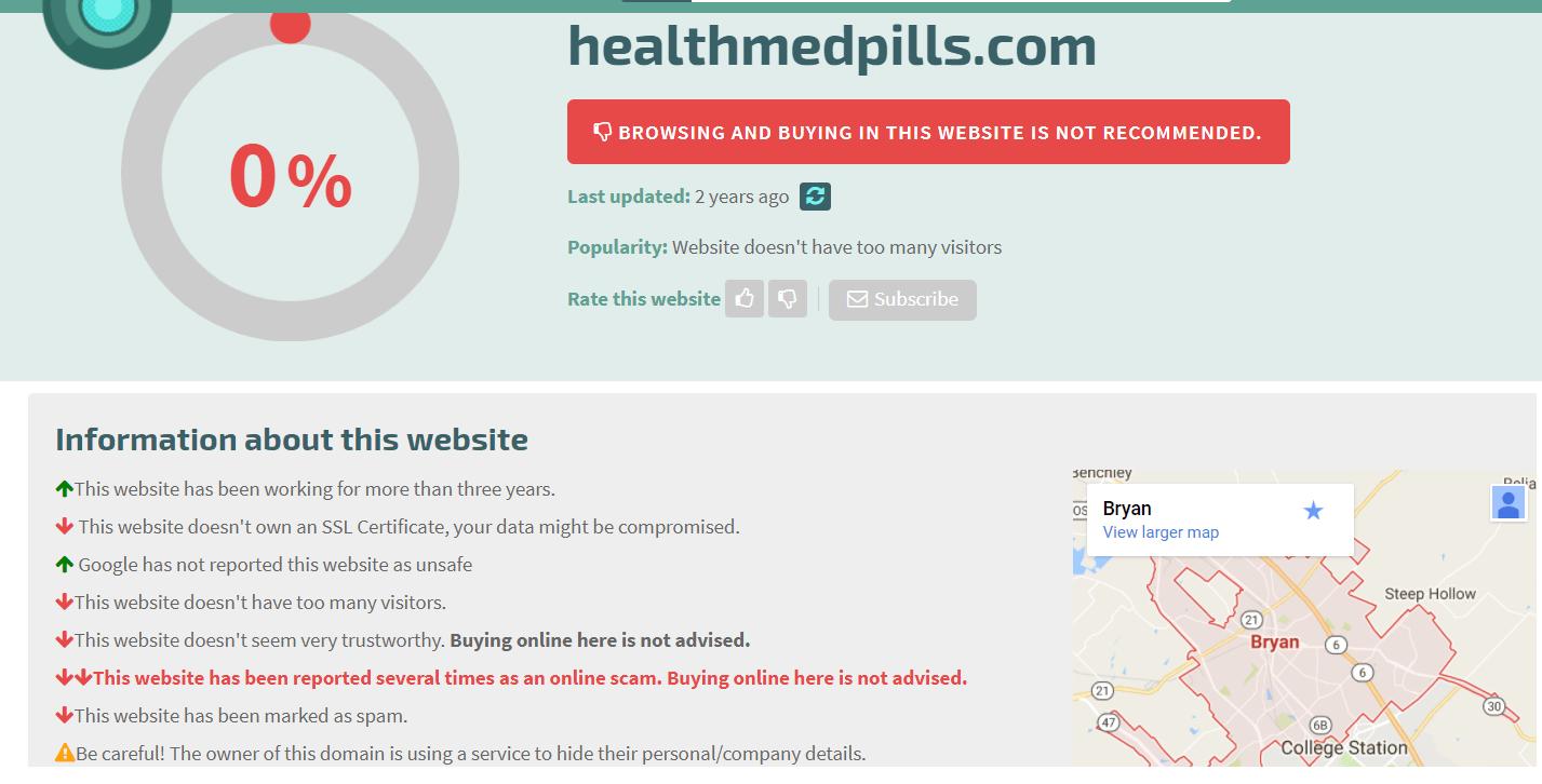 Healthmedpills.com Safety Information
