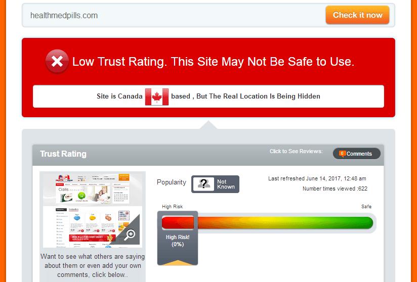Healthmedpills.com Trust Rating