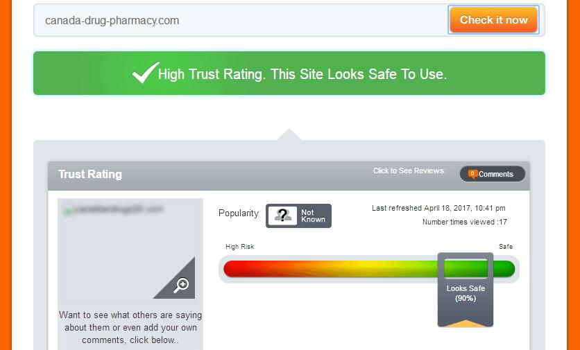 Canada-drug-pharmacy.com Trust Rating