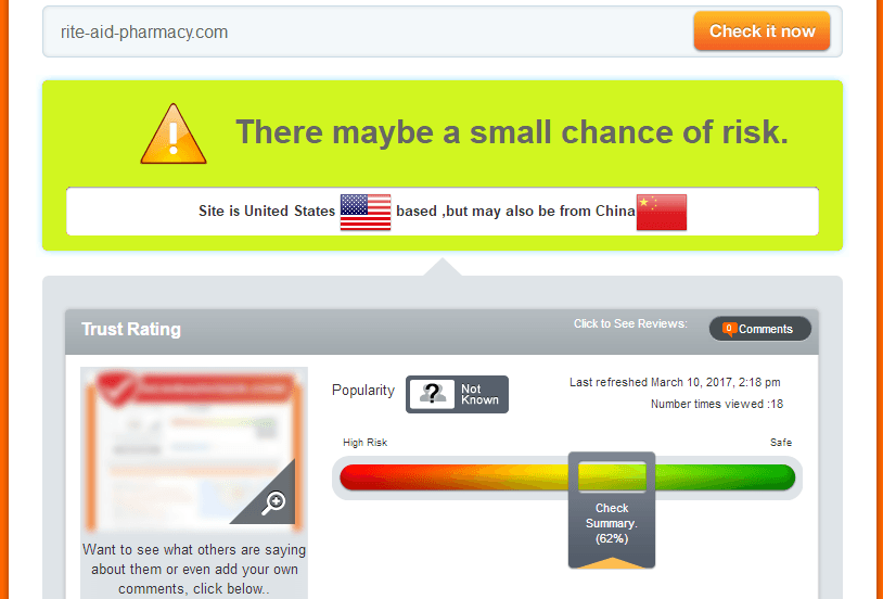 Rite-aid-pharmacy.com Trust Rating