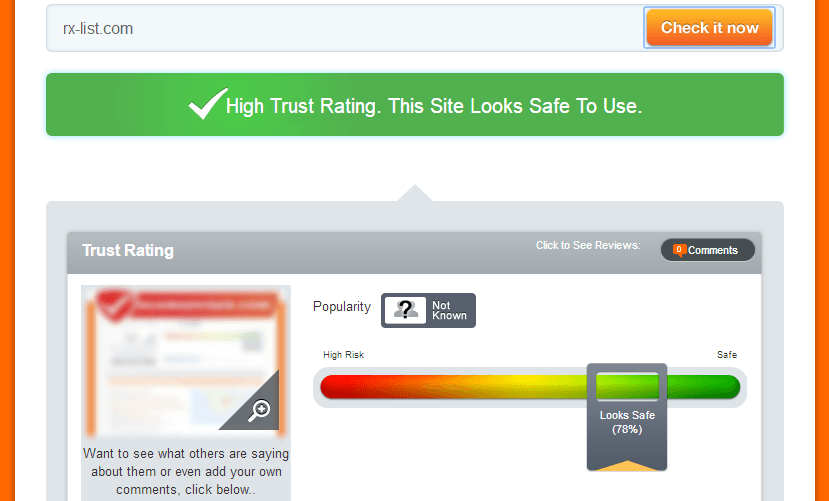 Rx-list.com Trust Rating