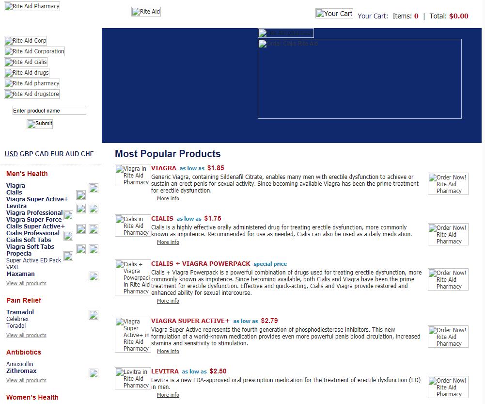 Rite-aid-pharmacy.com Main Page