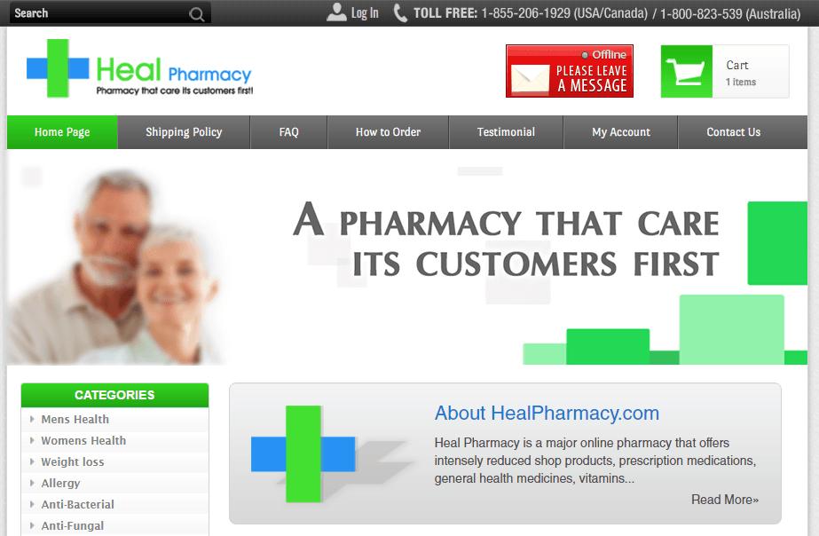Healpharmacy.com Main Page