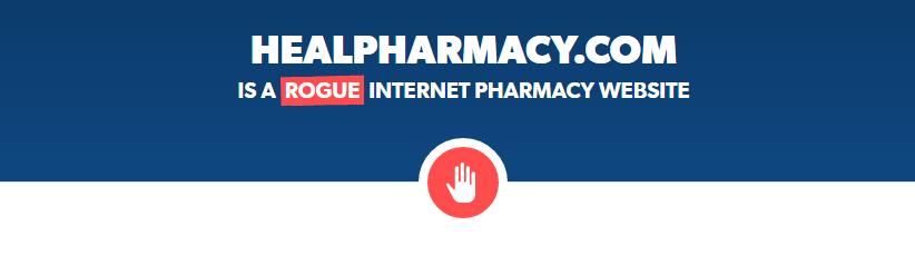 Healpharmacy.com is a Rogue Website