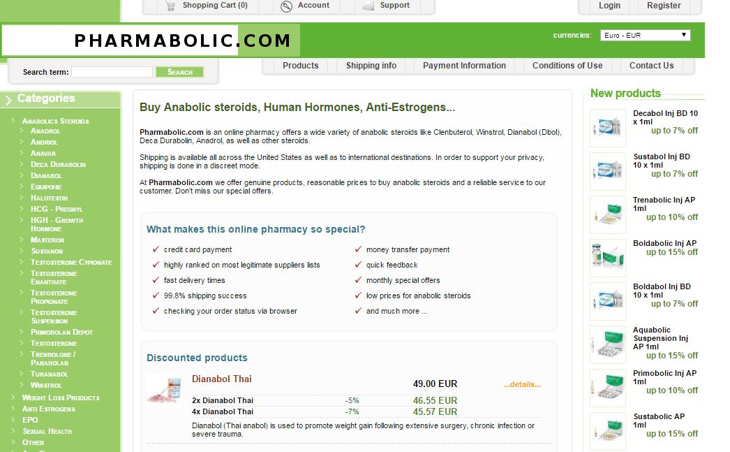 Pharmabolic.com Main Page