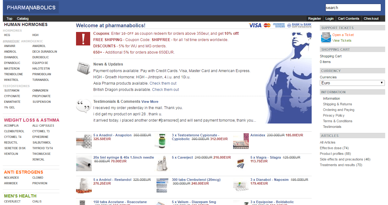 Pharmanabolics.net Main Page