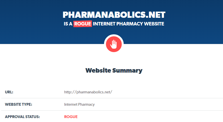 Pharmanabolics.net is a Rogue Website