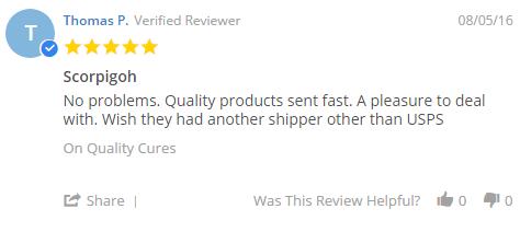 Quality-Cures.com Feedback 2017
